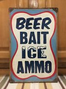Beer Bait Ice Ammo Metal Vintage Style Fishing Bait Lure Hunting Camouflage Bar