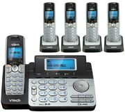 Vtech Ds6151 Dect 6.0 2 Line Cordless Phone W/answering + 4 Ds6101 Handsets New