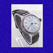 Ww1 Silver Military 7th Field Regiment Royal Artillery Trench Watch 1917