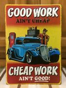 Mechanic Hot Rod Garage Metal Decor Gas Pump Coupe Oil Bar Industrial Ford Chevy