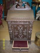 Antique French Gothic Elizabethan Church Prayer Kneeler Bible Stand 1800and039s