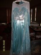 Elsa Limited Edition Adult Women Costume+cape+cover+hanger Frozen Disney 10