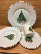 Noel Porcelle Christmas Tree Dishes House Of Salem France Dishes/bowls/cups 24