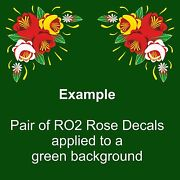 Ro2 Self Adhesive Traditional Roses For Canal/narrow Boat Decoration And Canalia