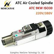 Cnc 9kw Atc Spindle Air Cooled Tool Change Spindle Motor 220/380v Iso30 Newcarve