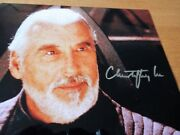 Count Dooku Andndash Christopher Lee 10x8 Signed Autograph Andndash Loa/v.rare Andcollectable