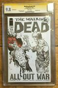 The Walking Dead 115 Tim Vigil Signed And Sketch Partial Blank Cover Cgc Ss 9.8