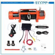 Eccpp 13000lbs Electric Winch Synthetic Rope Waterproof 12v Towing Truck 4wd