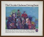 Gladstone Equestrian Carriage Driving Competition Original 1985 Lithograph