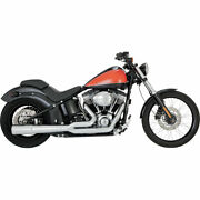 Vance And Hines Chrome Pro Pip 21 Exhaust 2012-17 Harley Softail Fxs/fls/flst