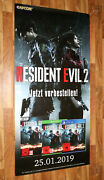 Resident Evil 2 Ps4 Xbox One Rare Promo Game Store Xxl Huge Poster 182x90cm