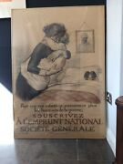 Original 1917 French Ww1 Propaganda Poster Signed By Georges Redon. 115 X 81cms