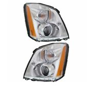 06-11 Dts Front Headlight Headlamp Hid/xenon Head Light Lamp W/bulb Set Pair
