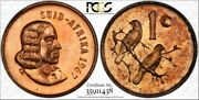 1967 South Africa 1 Cent Pcgs Pr66rb Toned Proof Coin Only 1 Graded Higher