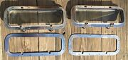 Pair Stainless Steel Boat Yacht Deck Side Hatch Window 5 1/4 X 17 1/4