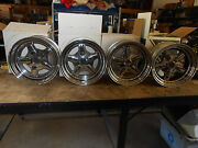 15 X 8 Vintage Nos Spectrum Pro Snitz Chrome Wheel Rims 6 Lug 62-5806