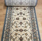 Rug Depot Traditional Oriental Hall And Stair Rug Runner - 26 Wide Ivory/blue