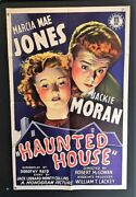 Haunted House Original Movie Poster 1940 Marcia Mae Jones Hollywood Posters