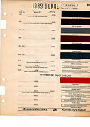 1939 Dodge Luxury Liner Deluxe Special Truck Paint Chips Sherwin Williams 397pc