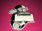 Vintage 70s Welcome To Pirateland Family Campground Plastic Magnet Souvenir Sc