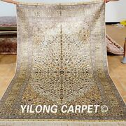 Yilong 5and039x8and039 Great Middle Silk Rugs Hand Knotted Medallion Carpets Handmade 1030