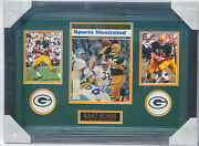 Psa/dna Gb Packers 15 Bart Starr Autographed Framed Sports Illustrated Magazine