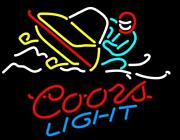 New Coors Snowmobile Bar Beer Neon Light Sign 24x20
