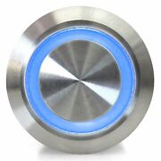 22mm Latching Billet Buttons With Led Blue Or Green Ring Streets Rods Rat Rods