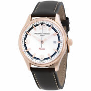 Frederique Constant Silver Dial Leather Strap Menand039s Watch Fc303wgh5b4