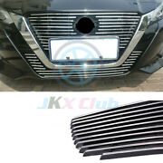 For Nissan Altima 19-21 Metal Silver Front Bumper Grille Grill Cover Trim 2pcs