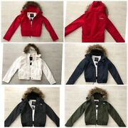 New Hollister Abercrombie Womens Faux Fur Hooded All-weather Jacket- Xs S M L