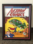 Action Comic 1 Cover Art An Original Recreated Painting Signed And Framed