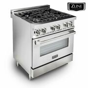 Zline 30 Professional Stainless Steel 4.0 Cu.ft. 4 Gas On Gas Oven Range Rg30