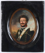Portrait Of An Officer Of The Royal Chasseurs-a-cheval French School 1820s