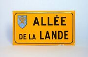 Authentic Vintage French Enamelware Street Sign, Path Of The Moor-land