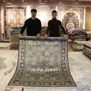 Yilong 5and039x8and039 Blue Classic Handmade Silk Area Rug Porch Hand Knotted Carpets 639b
