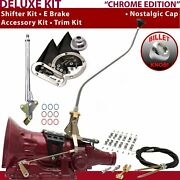 Th350 Shifter Kit 23 Swan E Brake Cable Clamp Trim Kit For F6611 Auto Trans