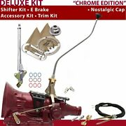 700r4 Shifter Kit 23 Swan E Brake Cable Clevis Trim Kit For D2def Trans Auto