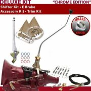 700r4 Shifter Kit 23 Swan E Brake Cable Clamp Trim Kit For Ea73a Trans Auto 727