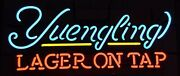 New Yuengling Lager On Tap Bar Glass Beer Neon Light Sign 20x16