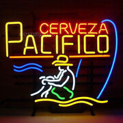 New Cerveza Pacifico Fishing Beer Wall Decor Light Neon Sign 24x20