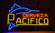 New Cerveza Pacifico Beer Lager Real Glass Handmade Neon Sign 24x20