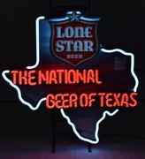 New Lone Star Beer Neon National Beer Of Texas Light Bar Neon Sign 24x20