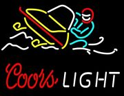 New Coors Light Snowmobile Beer Bar Pub Lamp Neon Sign 24x20