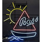 New Bass Boat Sun Beer Neon Sign 24x20