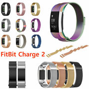 5 Pack For Fitbit Charge 2 Watch Strap Wrist Band Stainless Steel Milanese Metal