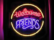 New Welcome Friends Party Time Beer Neon Light Sign 24x24