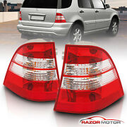 1998-2005 Mercedes-benz W163 Ml 320/350/430/500/ml55 Amg Red Tail Lights Pair