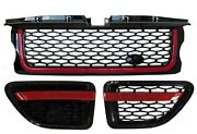 06-09 Range Rover Sport Grille Air Vents Black Autobiography Red Model Ab3a