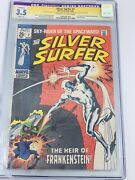 Silver Surfer 7 1969 Cgc 3.5 Signature Series Restored Signed Stan Lee Avengers